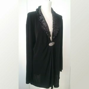 Chicos Travelers Collection Black Evening Jacket